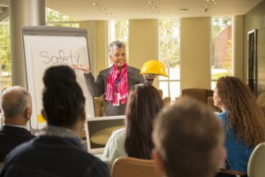 New hire safety training in a workplace